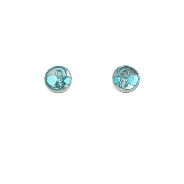 10mm Sky Mother of Pearl Studs