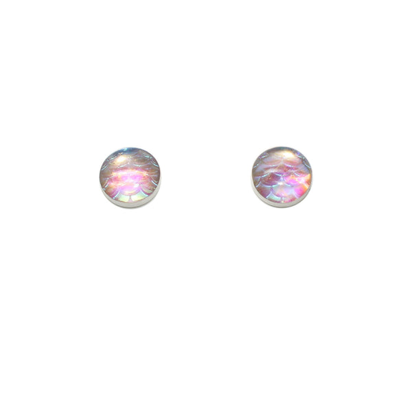 10mm Light Pink Mermaid Studs