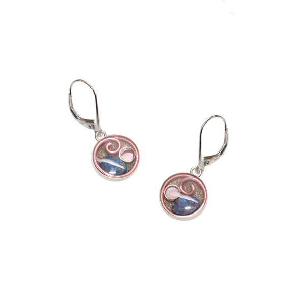10mm Pink Opal Earrings
