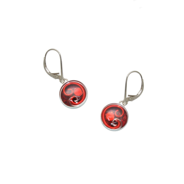 10mm Red Python Earrings