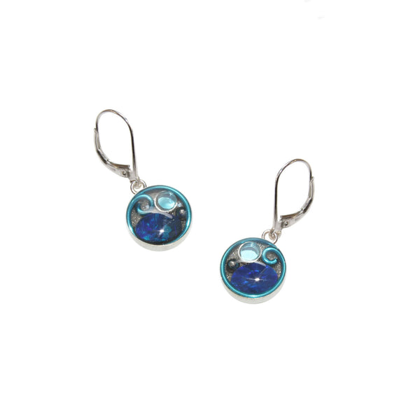 10mm Sky Opal Earrings