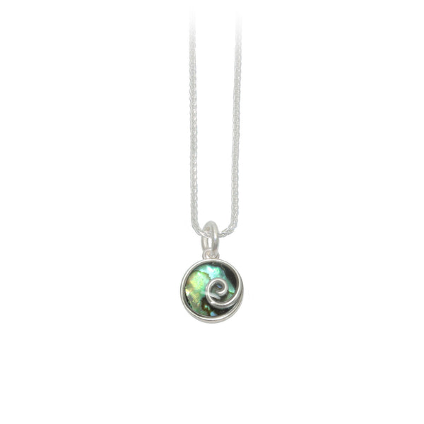 10mm Silver Abalone Pendant