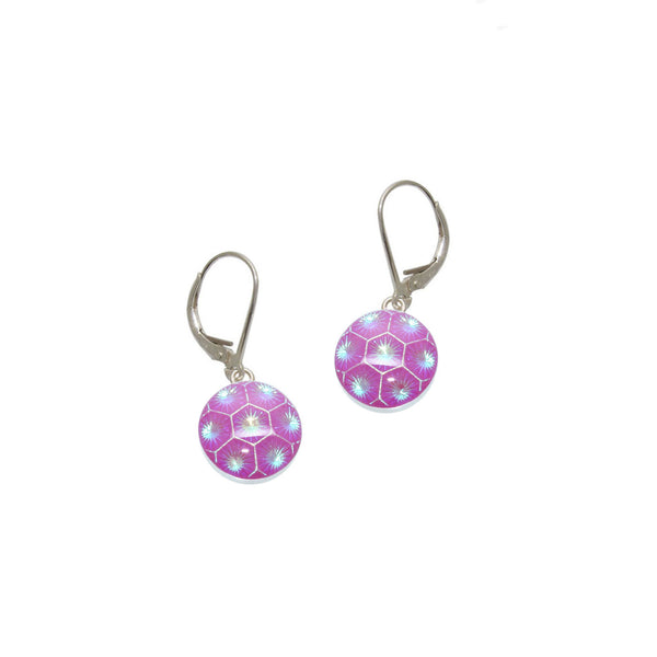 Fuchsia Honeycomb Earrings