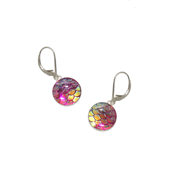 12mm Pink Mermaid Earrings