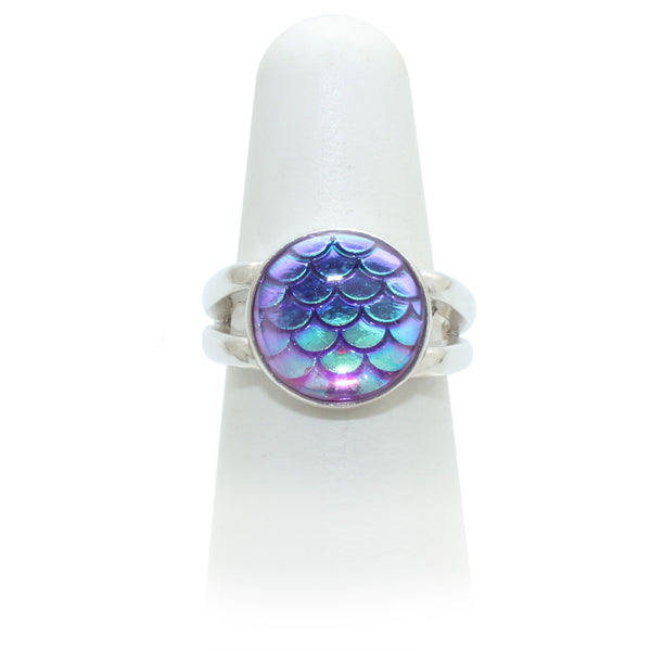 Size 6.75 - Purple Mermaid Ring