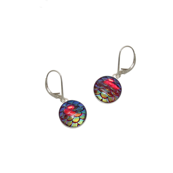 12mm Red Mermaid Earrings