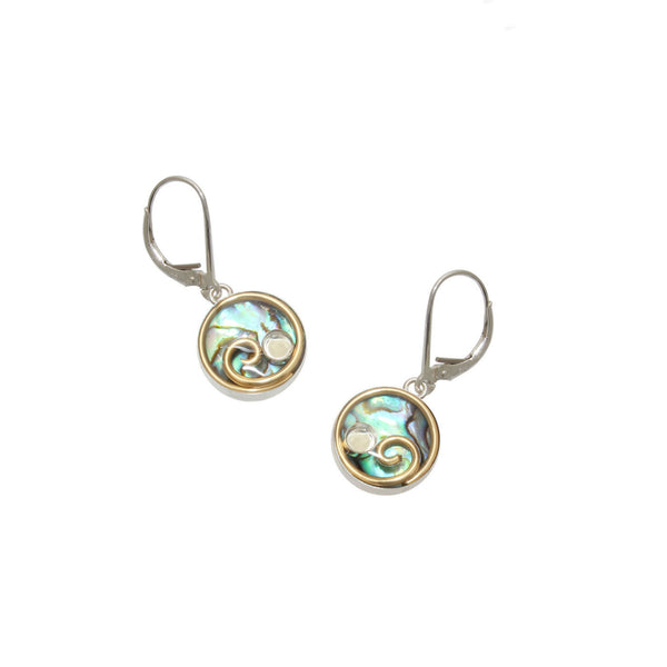 12mm Brass Abalone Earrings