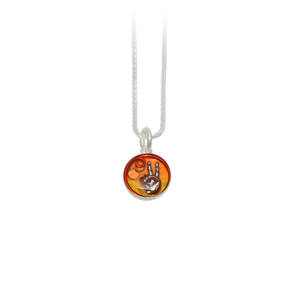 12mm Orange Peace Pendant