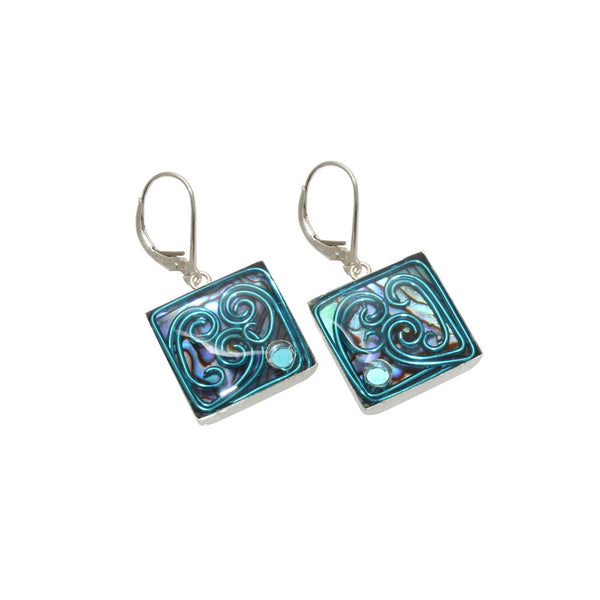 16mm Sky Abalone Earrings