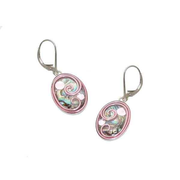 18x13mm Pink Abalone Earrings