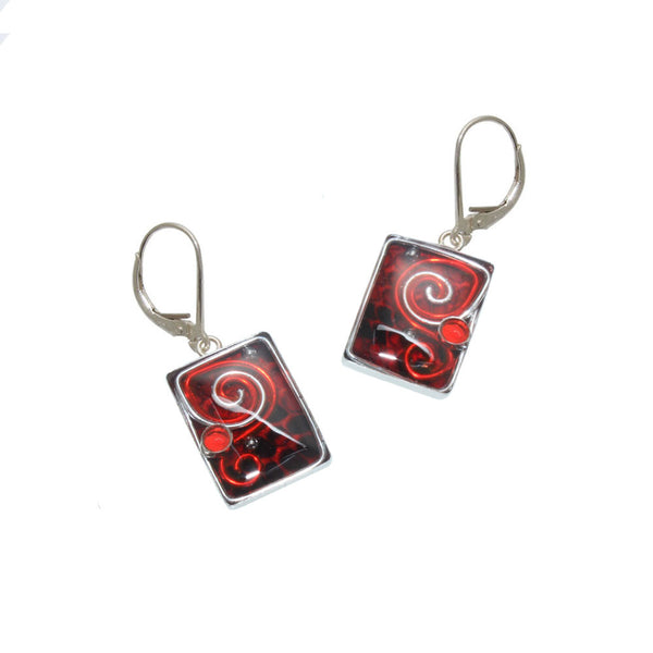 18x13mm Red Python Earrings