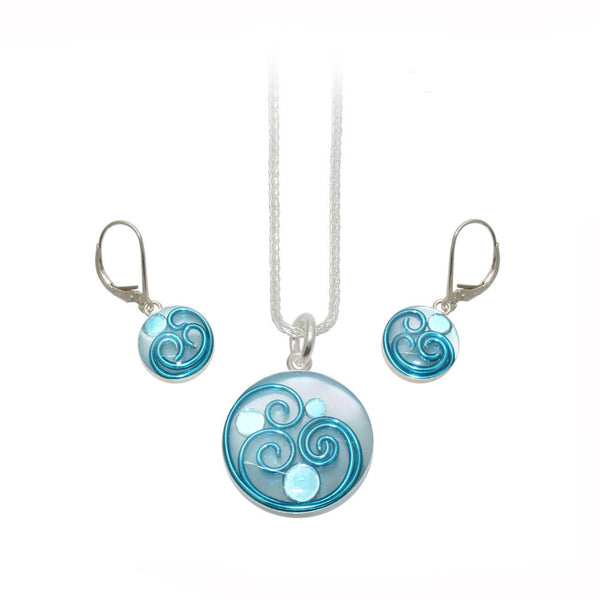 Blue Mother of Pearl Set