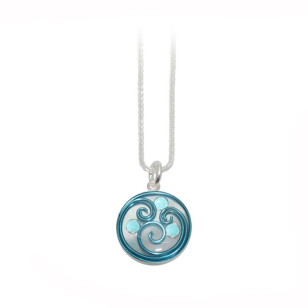 20mm Blue Mother of Pearl Pendant