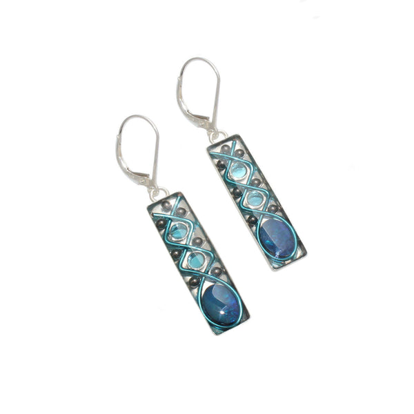 28x7mm Sky Opal Earrings
