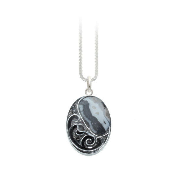 Black & White Agate Pendant