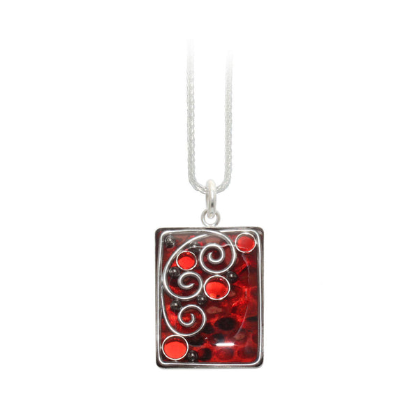 Red Python Rectangle Pendant