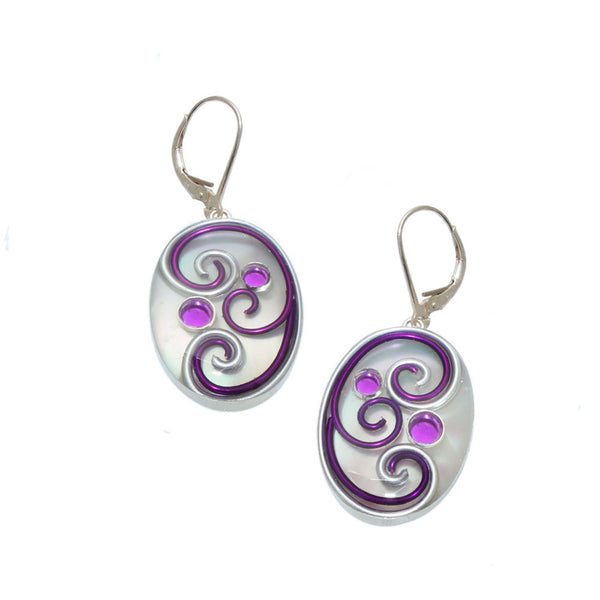 Passionflower Mother of Pearl Earrings