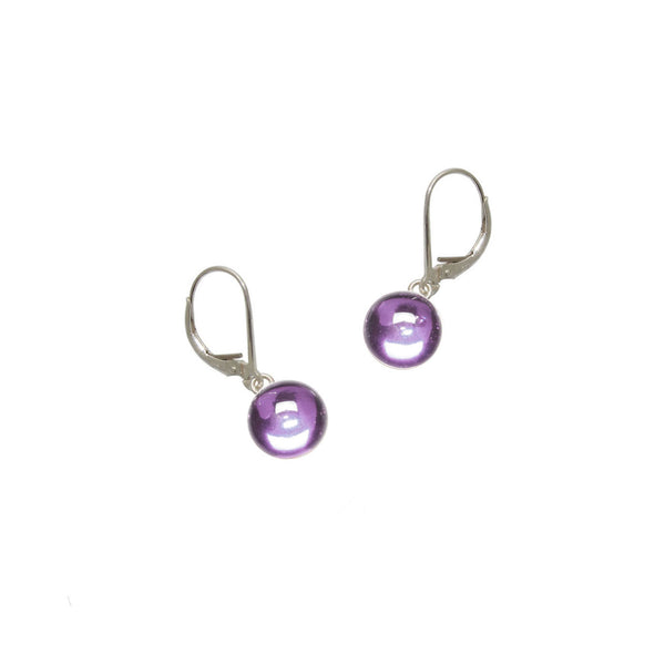 Purple Gumdrop Earrings