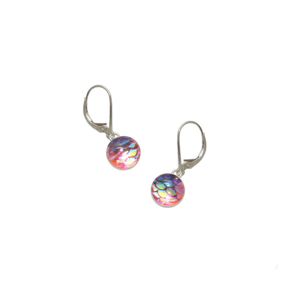 8mm Pink Mermaid Earrings