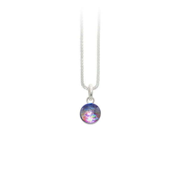 8mm Purple Mermaid Pendant