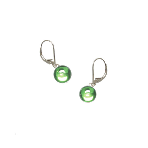 Lime Green Gumdrop Earrings
