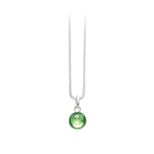 8mm Lime Green Gumdrop Pendant
