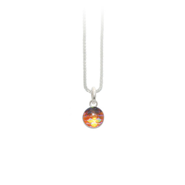 8mm Orange Mermaid Pendant