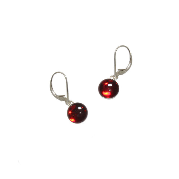 Red Gumdrop Earrings