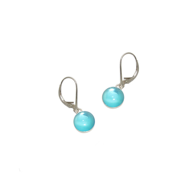 Sky Blue Gumdrop Earrings
