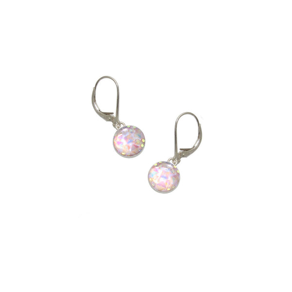 8mm Light Pink Mystique Earrings