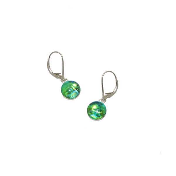 8mm Lime Mermaid Earrings
