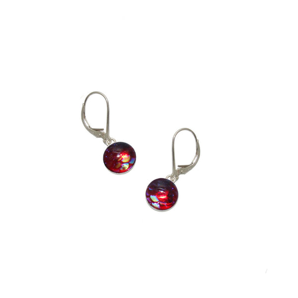 8mm Red Mermaid Earrings
