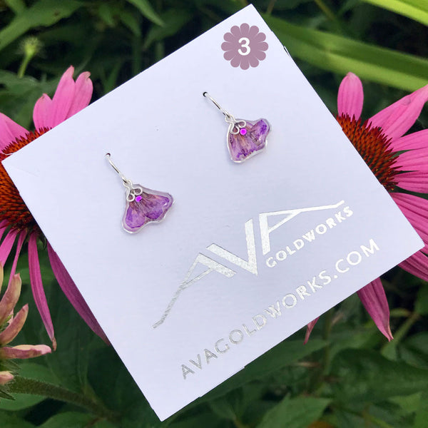 Purple Bloom Earrings