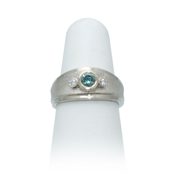 Size 6 - Blue Diamond Ring