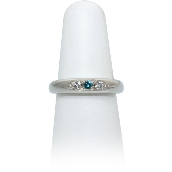 Size 6.5 - Blue Diamond Band