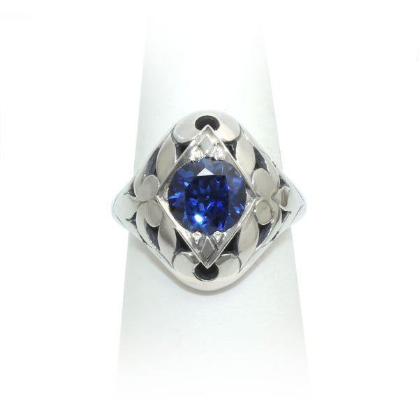 Size 8 - Blue Sapphire Ring