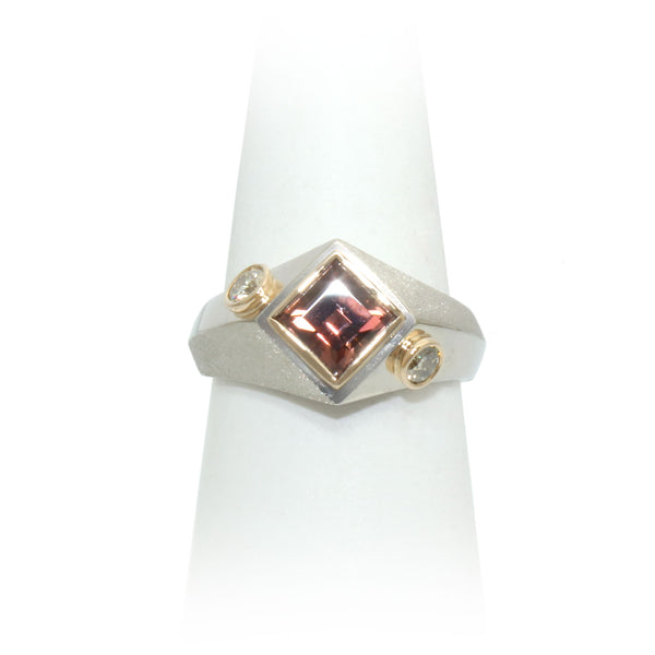 Size 8 - Tourmaline & Diamond Ring