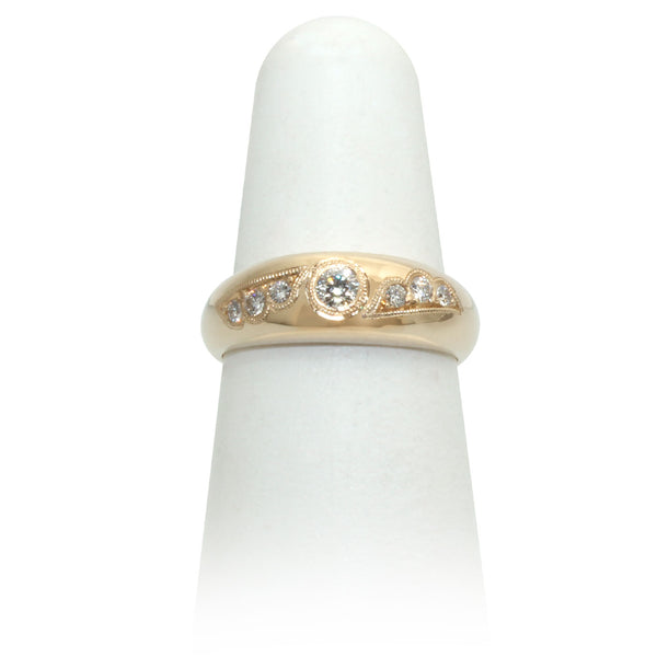 Size 6.25 - Yellow Gold Diamond Ring