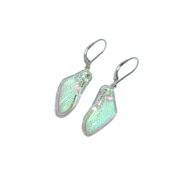 Iridescent Fairy Wing Earrings