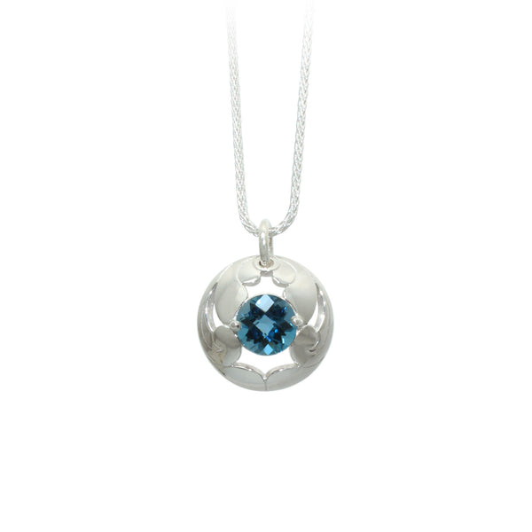 London Blue Topaz Lace Pendant