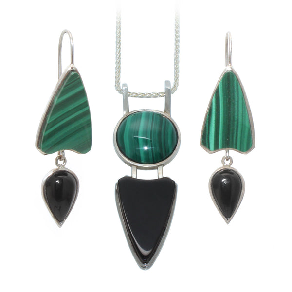Malachite & Black Onyx Set