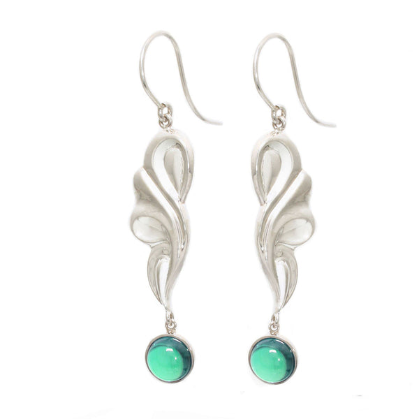 Mint Scroll Earrings