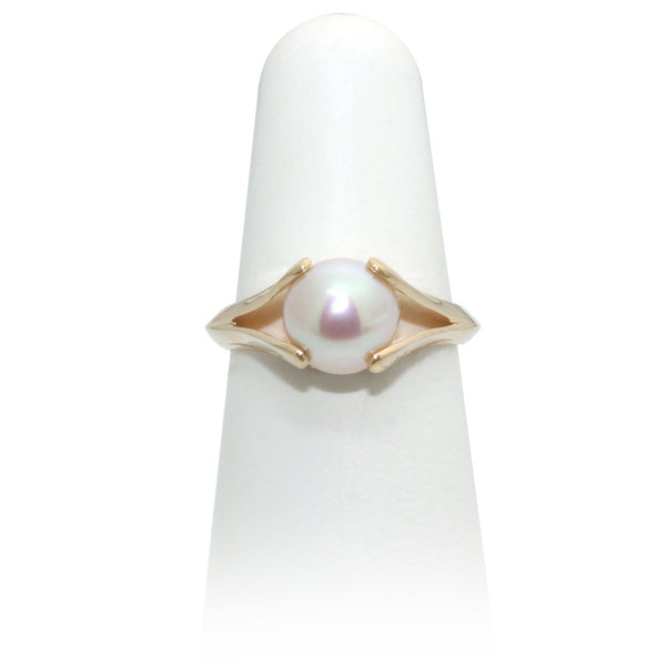 Pearl Yellow Gold Ring