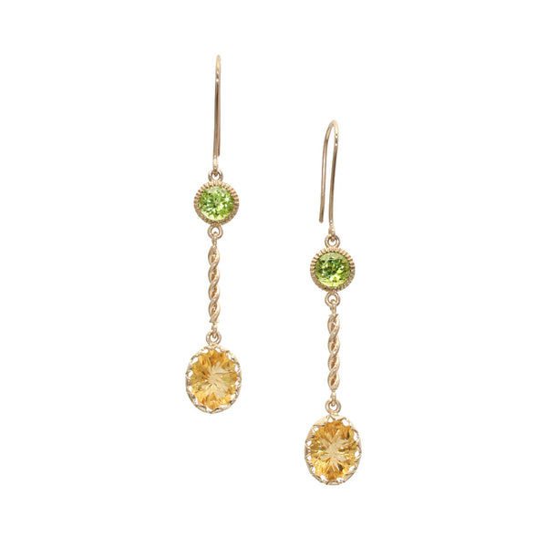 Citrine & Peridot Earrings