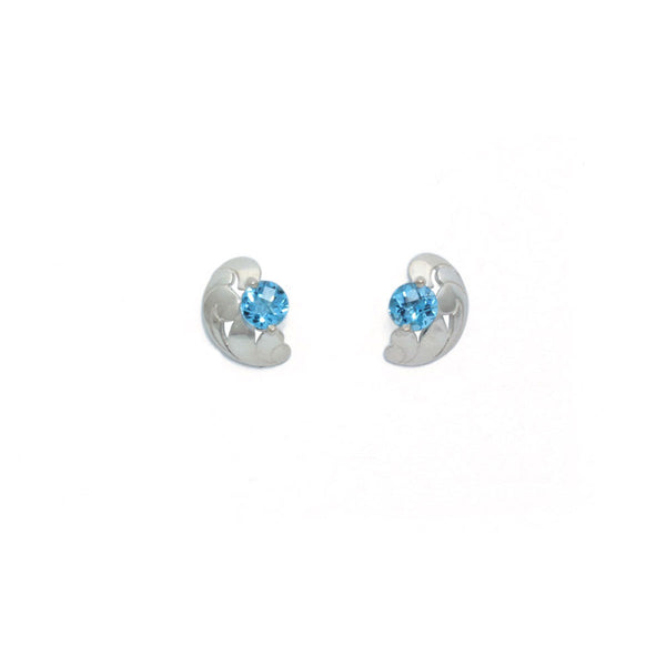 Blue Topaz Lace Earrings