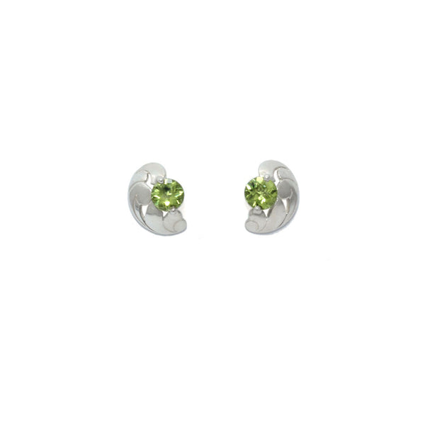 Peridot Lace Earrings