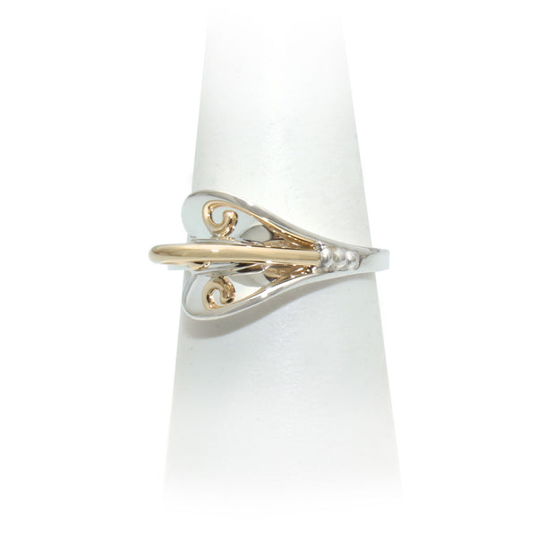 Size 7 - Silver & Gold Ring