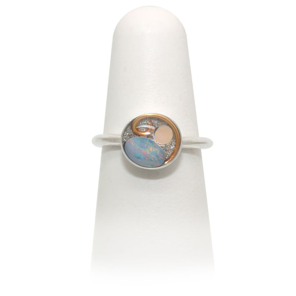 Size 6 - Copper Opal Ring