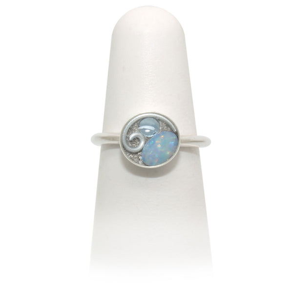 Size 7 - Silver Opal Ring