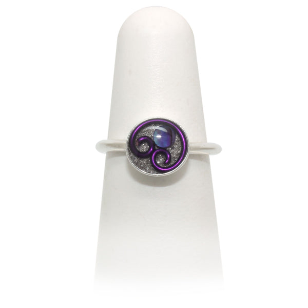 Size 7 - Purple Abalone Ring